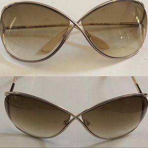 Tom Ford Rose Gold Miranda Sunglasses